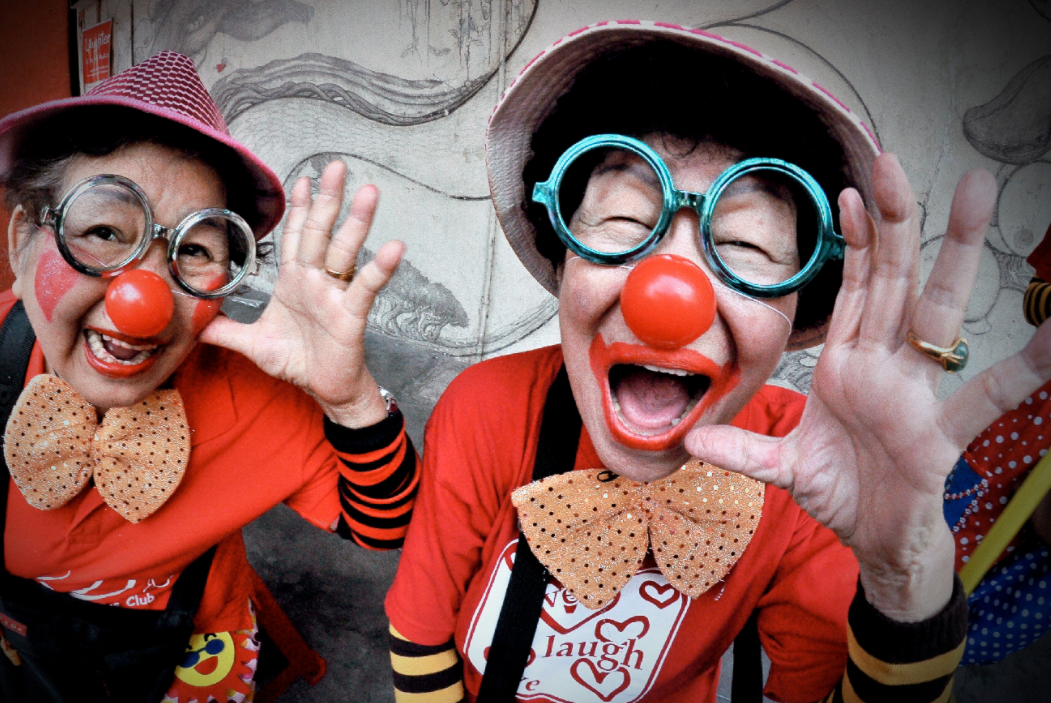 Pay Ah Khee  Meet these two sisters who are 65+ years old and they told me that they enjoyed themselves dressing up as clowns for an event. Just look how happy they are!